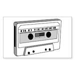 Old School Rectangle Sticker 50 pk)
