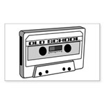 Old School Rectangle Sticker 10 pk)