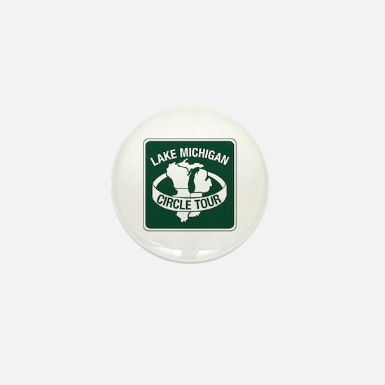 Lake Michigan Circle Tour, Wisconsin Mini Button