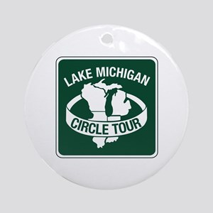 Lake Michigan Circle Tour, Wisconsin Ornament (Rou