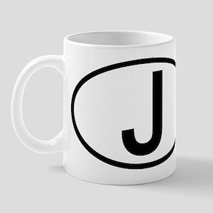 Japan - J - Oval Mug