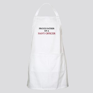 Proud Father Of A NAVY OFFICER BBQ Apron