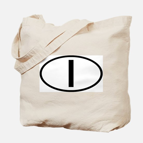 Italy - I - Oval Tote Bag