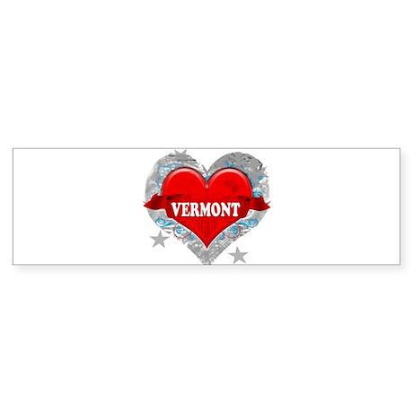 My Heart Vermont Vector Style Sticker (Bumper 10 p