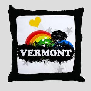 Sweet Fruity Vermont Throw Pillow