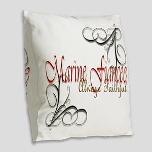 Fiancee Copy Burlap Throw Pillow