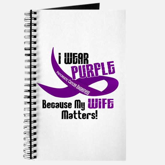 I Wear Purple For My Wife 33 PC Journal