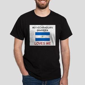 My Nicaraguan Grandpa Loves Me Dark T-Shirt