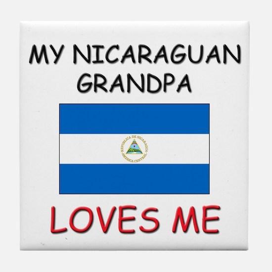 My Nicaraguan Grandpa Loves Me Tile Coaster