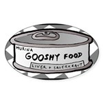 Gooshy Oval Sticker