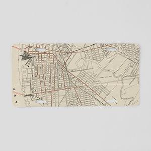 Vintage Map of Camden NJ (1 Aluminum License Plate