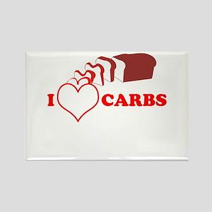 I Heart Carbs Rectangle Magnet