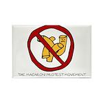 Macaroni Protest Movement Rectangle Magnet