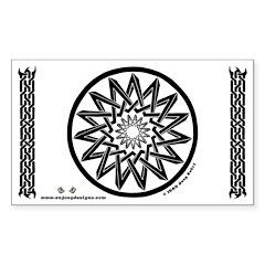 Pentagrams #2 - Rectangle Decal