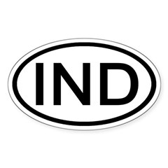 India - IND - Oval Oval Decal