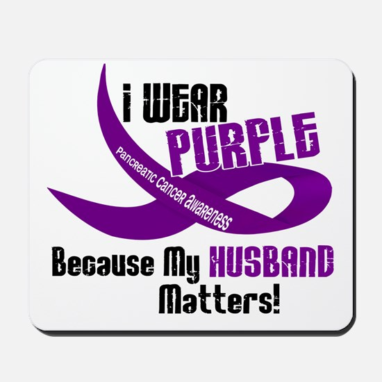 I Wear Purple For My Husband 33 PC Mousepad