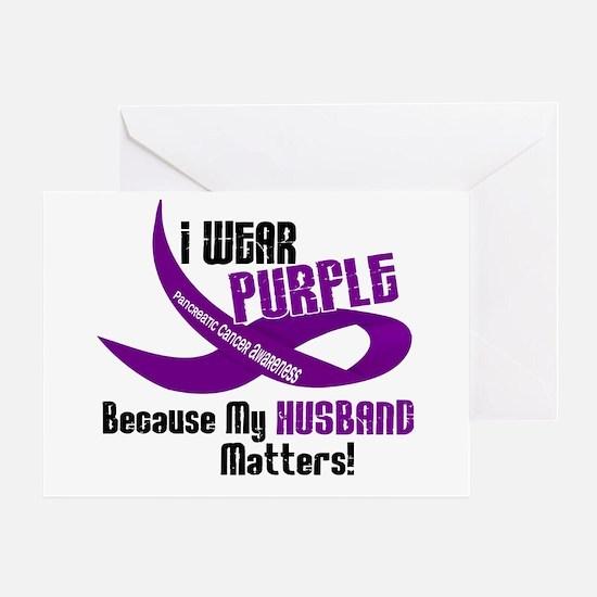 I Wear Purple For My Husband 33 PC Greeting Card