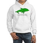 Stamp-covered green dolphin Hooded Sweatshirt