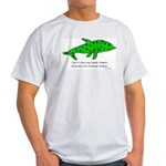 Stamp-covered green dolphin Light T-Shirt