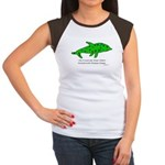 Stamp-covered green dolphin Women's Cap Sleeve T-S