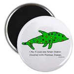 Stamp-covered green dolphin Magnet