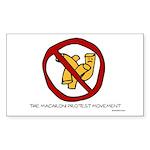 Macaroni Protest Movement Rectangle Sticker