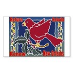 New Orleans Christmas Art Rectangle Sticker