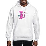 Pink kangaroo eating yogurt Hooded Sweatshirt