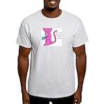 Pink kangaroo eating yogurt Light T-Shirt