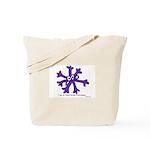 Itchy purple snowflake Tote Bag