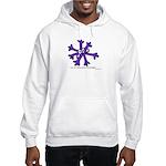 Itchy purple snowflake Hooded Sweatshirt