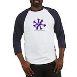 Itchy purple snowflake Baseball Jersey
