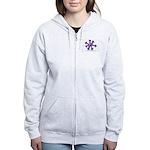 Itchy purple snowflake Women's Zip Hoodie
