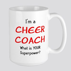 cheer coach 15 oz Ceramic Large Mug