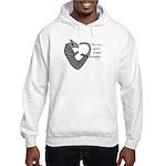 Heart-shaped armadillo Hooded Sweatshirt