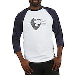Heart-shaped armadillo Baseball Jersey
