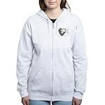 Heart-shaped armadillo Women's Zip Hoodie