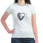 Heart-shaped armadillo Jr. Ringer T-Shirt