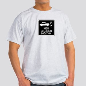 High Collision Location, Canada Light T-Shirt