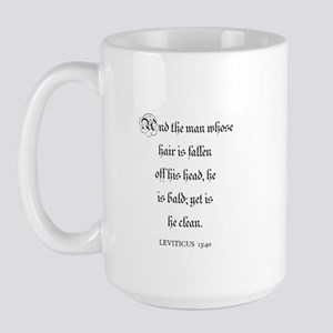 LEVITICUS  13:40 Large Mug