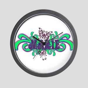 Marie's Butterfly Name Wall Clock