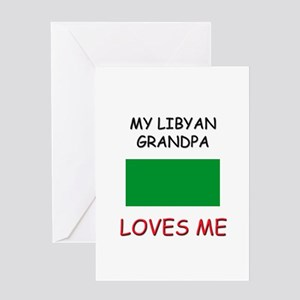 My Libyan Grandpa Loves Me Greeting Card