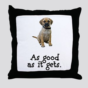 Good Puggle Throw Pillow
