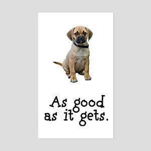 Good Puggle Rectangle Sticker