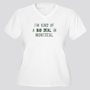 Big deal in Montreal Women's Plus Size V-Neck T-Sh