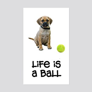 Puggle Life Rectangle Sticker