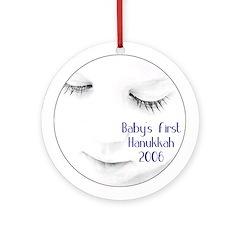 Baby's First Hanukkah 2005 Round Ornament