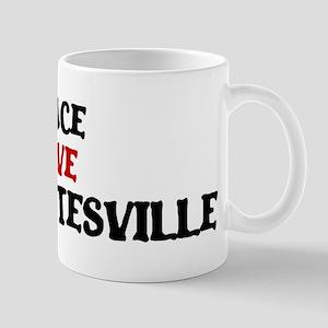 Peace Love Charlottesville Mug