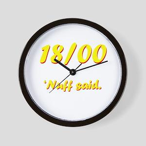 'Nuff said. Wall Clock