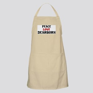 Peace Love Dearborn BBQ Apron